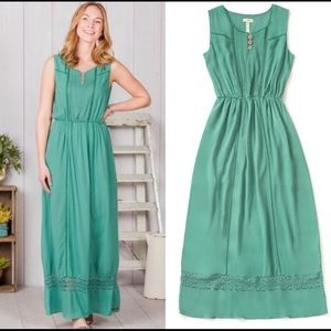 Matilda Jane Down in the Valley Green Dress Med